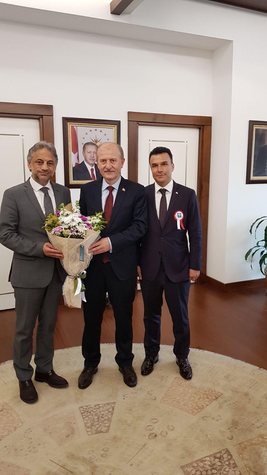 Fatih Belediyesinin Yeni Başkanını Ziyaret